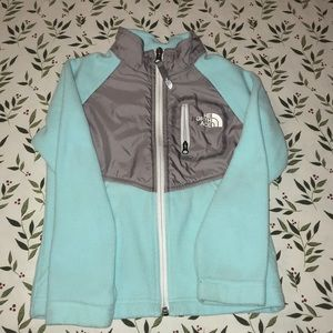 Turquoise The North Face fleece for girls